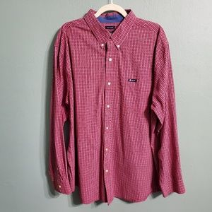Chaps Long Sleeved Plaid Easy Care Shirt